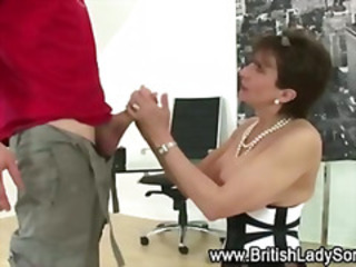 British European Handjob MILF