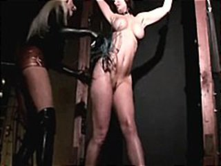 Aria is hung and flogged