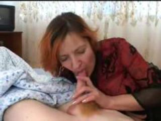 Amateur Blowjob Homemade Mature Mom Old and Young Redhead