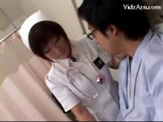 Busty Nurse Rubbing Patients Cock With Tits Cum To Tits On The Hospitals Bed