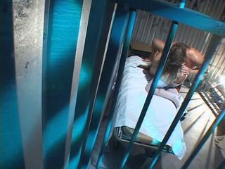 Blonde beauty sucks dick and gets pounded by an inmate in his cell