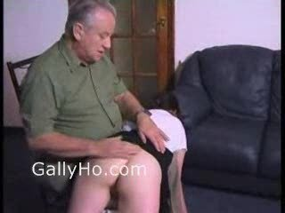 Old Man Spanks Young Teen