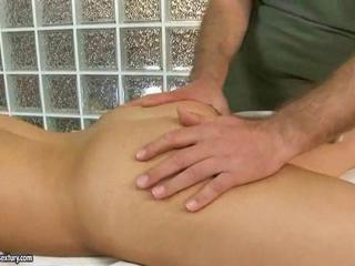 Teen gets fucked by old masseur