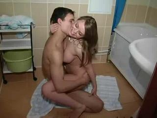 Bathroom Kissing Teen