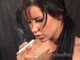 Brunette Cute Smoking Teen
