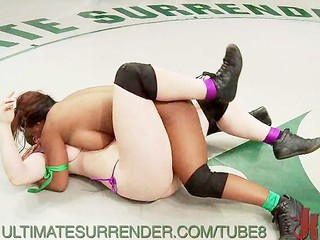 Busty Babes Wrestle and Dominate