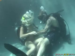 Scuba diving sex in the pool with a pornstar