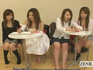 Subtitled Japanese amateur quiz game friends watch sex