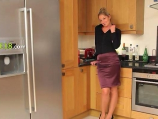 Amazing Kitchen Skirt Stripper Teen