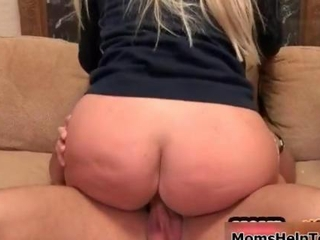 Hot blonde milf goes crazy riding a cock