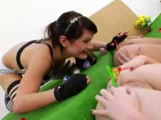 Three anal queens and calumnious toys