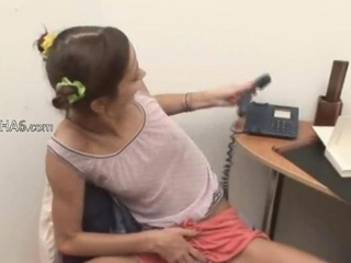 Office girl masturbating hairy pussy