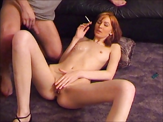 Amateur Amazing Cute Redhead Small Tits Smoking Teen