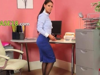Babe Office Secretary Solo Stockings