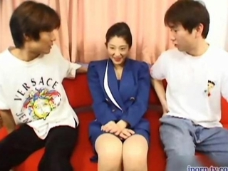 Japanese Houswife Threesome