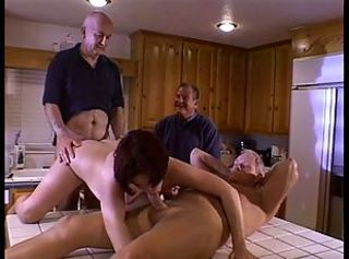 Bunch of studs bang a hottie in heat