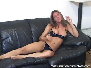 Smoking MILF flashes tits as she longs for your cock