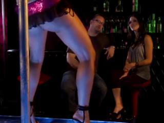 Lezzies getting horny in a strip club