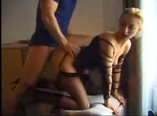 Horny Amateur Blonde InLeather Anal Sexing (mature..