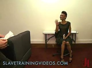 Black babe gets slave training