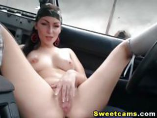 Hardcore Pussy Penetration in her Car HD tubes