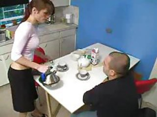 Kitchen Mature Russian