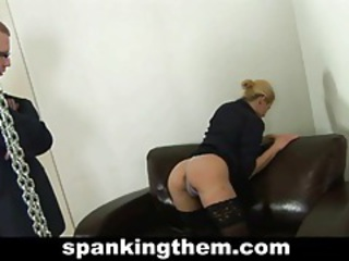 Spanking punishment for sexy blondie tubes