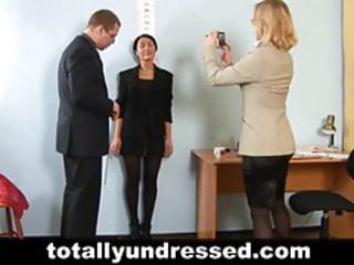 Hot secretary gets interviewed tubes