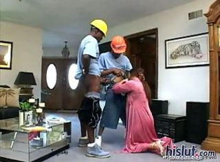 Blowjob Clothed Interracial Threesome Wife