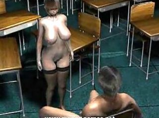 Busty teacher gets nailed by student