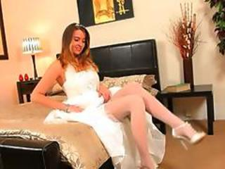 Super Hot White Pants Of Sexy Bride