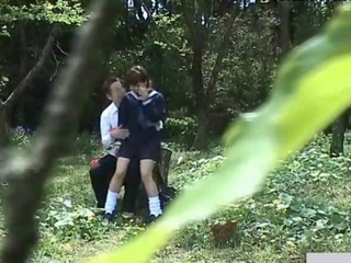 School Student Couples Sex Outdoor Facet