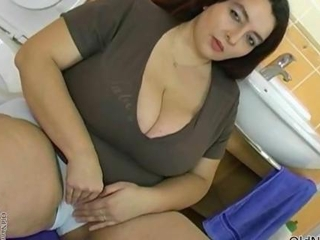 Bathroom BBW Big Tits Cute MILF Natural