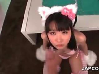 Sweet Asian Teen Maid Blowing Shaft In Pov Style