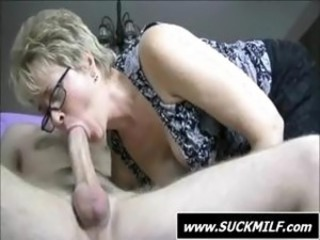 Big cock Blowjob Glasses MILF