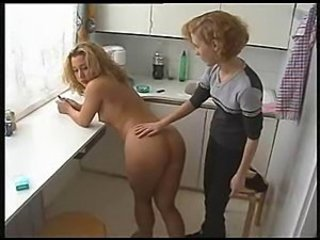 Ass European German Kitchen Lesbian Teen