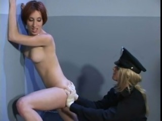 Lesbian Agent examining the Holes of the Prisoner