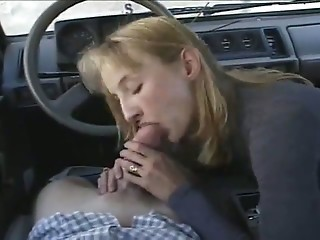 Amateur Blowjob Car Clothed Girlfriend
