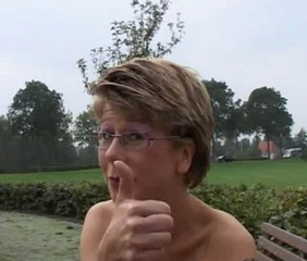 Amateur Glasses MILF Outdoor Public