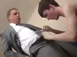 SUITED old DAD play his BOY TWINK and get fucked DEEP