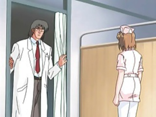 Hentai nurse tied up by doctor for kinky play tubes
