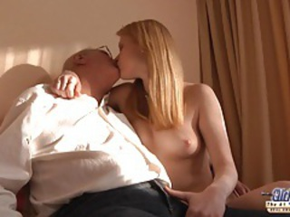 Daddy Kissing Old and Young Small Tits Teen