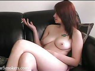 Amateur Redhead SaggyTits Smoking Tattoo Teen