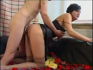 Doggystyle MILF Mom Old and Young Pantyhose
