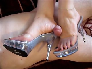 Footjob, rectal, and handjob