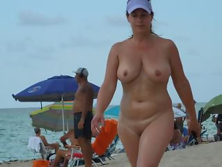 Beach MILF Natural Nudist Outdoor Public Voyeur