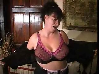 BBW Big Tits Lingerie Mature Natural Stripper
