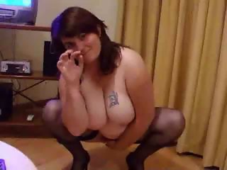 Chubby wife stripping
