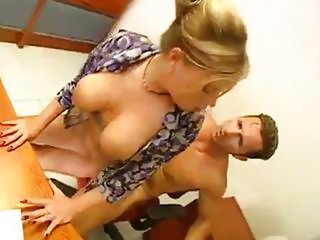 Amazing Big Tits Hardcore MILF Natural Secretary