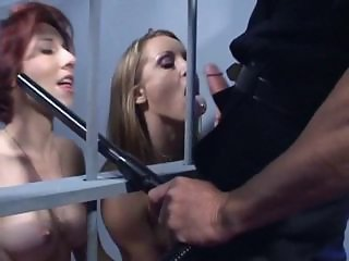 Blowjob MILF Prison Threesome